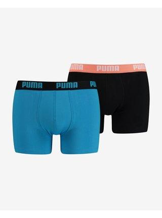 Boxerky pre mužov Puma - čierna, modrá