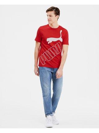 Tričká s krátkym rukávom pre mužov Puma - červená
