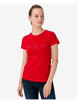 Tričká s krátkym rukávom pre ženy Calvin Klein - červená