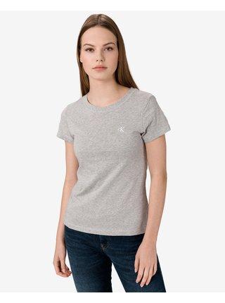 Tričká s krátkym rukávom pre ženy Calvin Klein - sivá