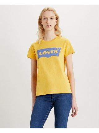 Tričká s krátkym rukávom pre ženy Levi's® - žltá