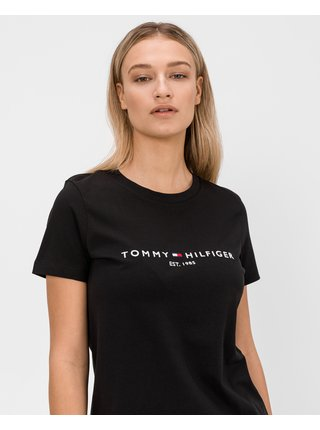 Tričká s krátkym rukávom pre ženy Tommy Hilfiger - čierna