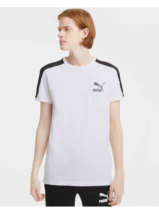 Tričká s krátkym rukávom pre mužov Puma - biela
