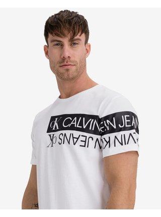 Tričká s krátkym rukávom pre mužov Calvin Klein - biela