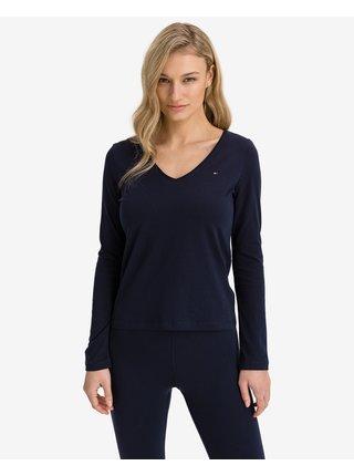 Tričká s dlhým rukávom pre ženy Tommy Hilfiger - modrá