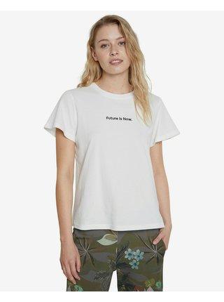 Tričká s krátkym rukávom pre ženy Desigual - biela