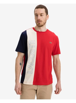 Tričká s krátkym rukávom pre mužov Lacoste - červená