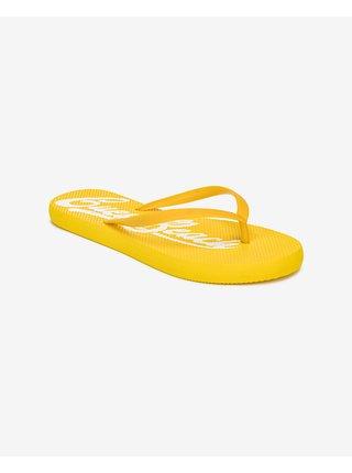 Papuče, žabky pre ženy Guess - žltá