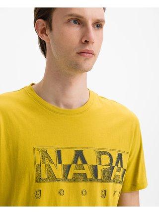 Tričká s krátkym rukávom pre mužov NAPAPIJRI - žltá