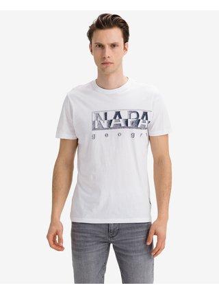 Tričká s krátkym rukávom pre mužov NAPAPIJRI - biela