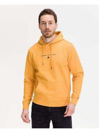 Mikiny s kapucou pre mužov Tommy Hilfiger - žltá