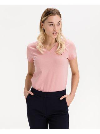 Tričká s krátkym rukávom pre ženy Tommy Hilfiger - ružová