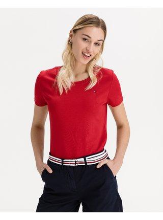 Tričká s krátkym rukávom pre ženy Tommy Hilfiger - červená