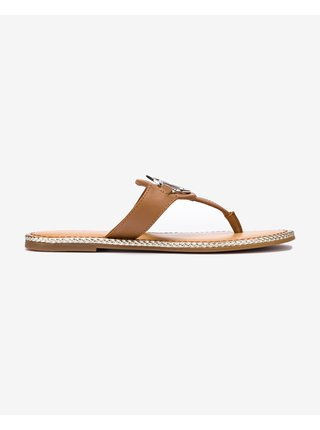 Papuče, žabky pre ženy Tommy Hilfiger - hnedá