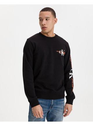 Mikiny bez kapuce pre mužov Calvin Klein - čierna