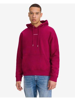 Mikiny s kapucou pre mužov Calvin Klein - ružová