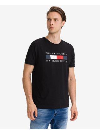 Tričká s krátkym rukávom pre mužov Tommy Hilfiger - čierna