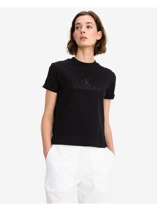 Tričká s krátkym rukávom pre ženy Calvin Klein - čierna