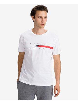 Tričká s krátkym rukávom pre mužov Tommy Hilfiger - biela