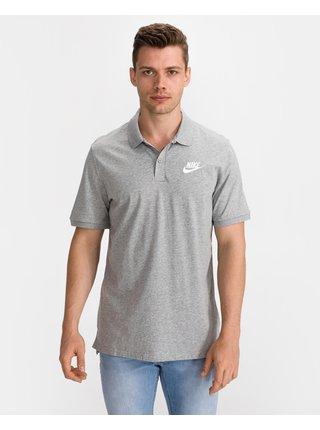 Polokošele pre mužov Nike - sivá