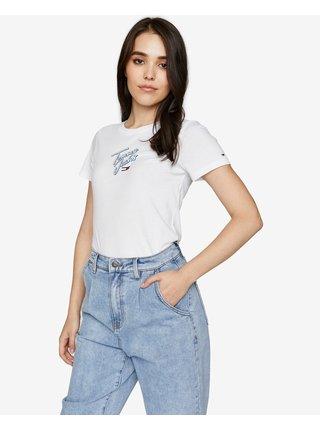 Tričká s krátkym rukávom pre ženy Tommy Hilfiger - biela