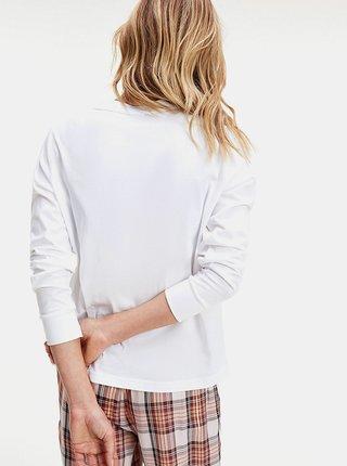 Biele dámske tričko s dlhým rukávom Tommy Hilfiger L/S Tee Gold