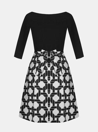 Bílo-černé vzorované šaty Rinascimento