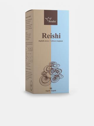 Reishi s jitrocelem a zinkem - 40% polysacharidů Serafin (90 kapslí)