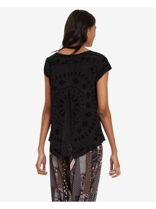 Tričká s krátkym rukávom pre ženy Desigual - čierna