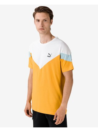 Tričká s krátkym rukávom pre mužov Puma - žltá, biela