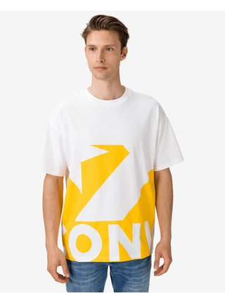 Tričká s krátkym rukávom pre mužov Converse - žltá, biela