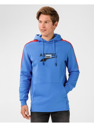 Mikiny s kapucou pre mužov Puma - modrá