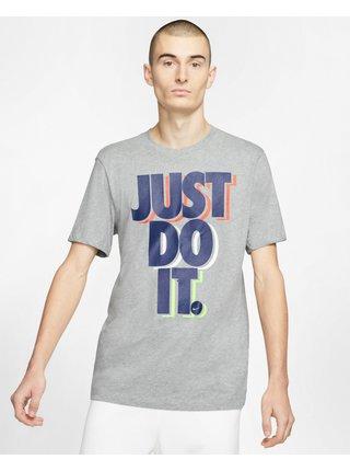 Tričká s krátkym rukávom pre mužov Nike - sivá