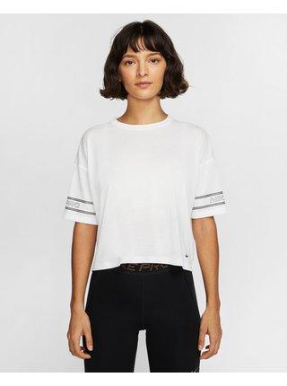 Tričká s krátkym rukávom pre ženy Nike - biela
