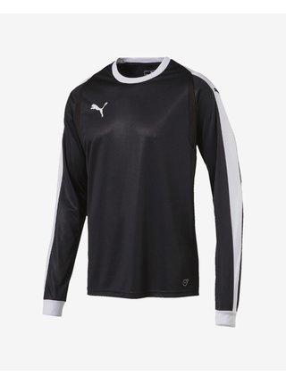 Tričká s dlhým rukávom pre mužov Puma - čierna