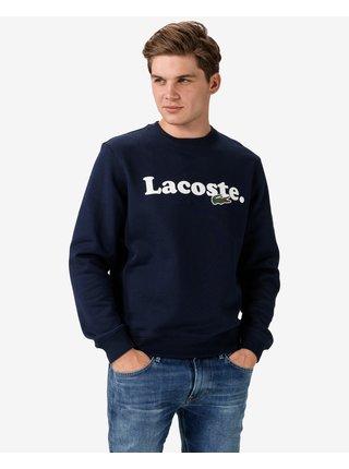 Mikiny bez kapuce pre mužov Lacoste - modrá