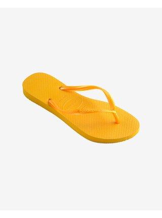 Papuče, žabky pre ženy Havaianas - žltá