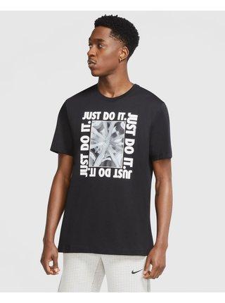 Tričká s krátkym rukávom pre mužov Nike - čierna