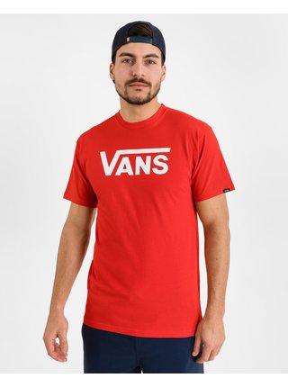 Tričká s krátkym rukávom pre mužov VANS - červená