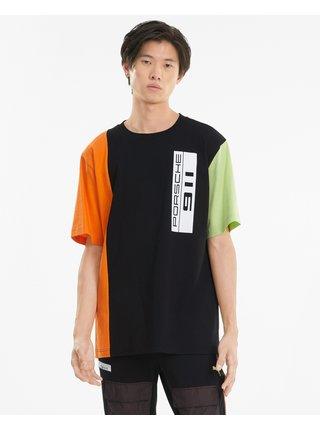 Tričká s krátkym rukávom pre mužov Puma - čierna, zelená, oranžová