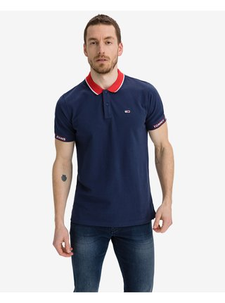 Polokošele pre mužov Tommy Jeans - modrá