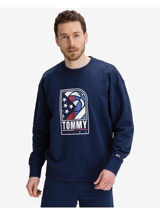 Mikiny bez kapuce pre mužov Tommy Jeans - modrá
