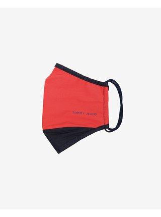 Rúška pre ženy Tommy Jeans - červená, biela