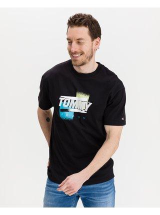 Tričká s krátkym rukávom pre mužov Tommy Jeans - čierna