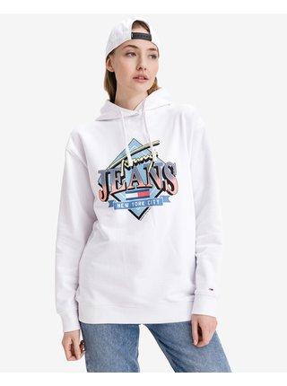 Mikiny pre ženy Tommy Jeans - biela