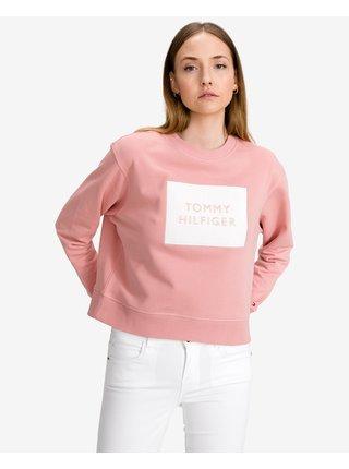 Mikiny pre ženy Tommy Hilfiger - ružová