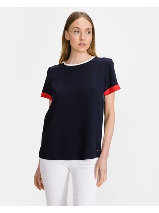 Tričká s krátkym rukávom pre ženy Tommy Hilfiger - modrá