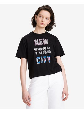 Tričká s krátkym rukávom pre ženy Tommy Jeans - čierna