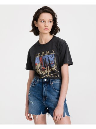 Metallic New York Logo Triko Tommy Jeans