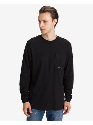 Tričká s dlhým rukávom pre mužov Calvin Klein - čierna